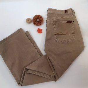 7 FOR ALL MANKIND Tan Twill Jeans